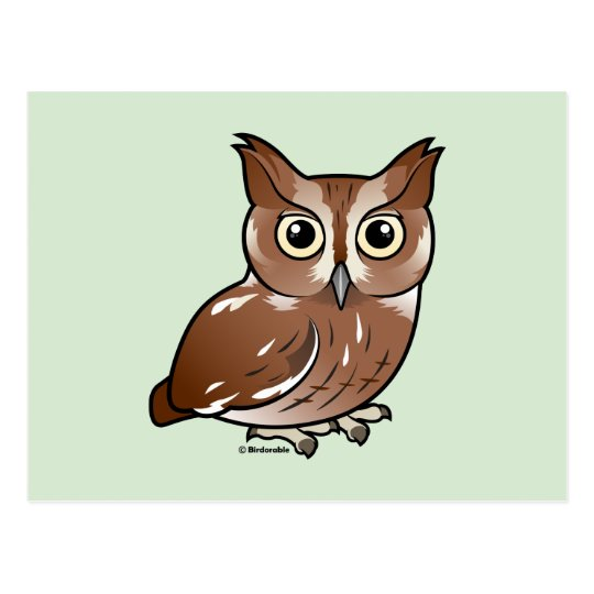 Eastern Screech Owl (Red Phase) Postcard