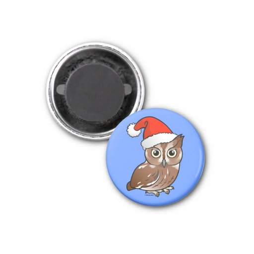 Eastern Screech Owl Santa Magnets