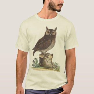 Eastern Screech Owl Vintage Engraving T-Shirt