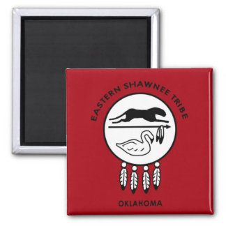 Eastern Shawnee Flag 2 Inch Square Magnet