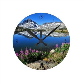 Eastern Sierra Mountains Round Clock