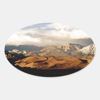 EASTERN SIERRA NEVADA LANDSCAPE OVAL STICKER