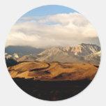 EASTERN SIERRA NEVADA LANDSCAPE ROUND STICKER
