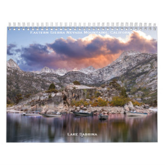Eastern Sierra Nevada Mountains, California Calendar
