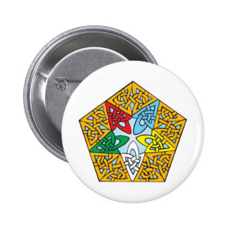 Eastern Star Celtic Knot Pinback Button