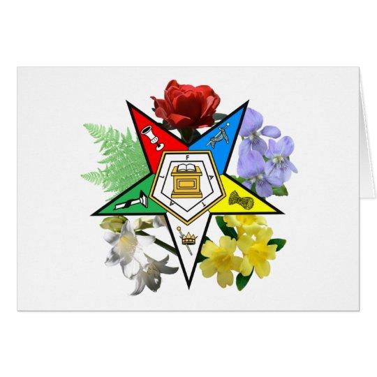 Eastern Star Floral Card