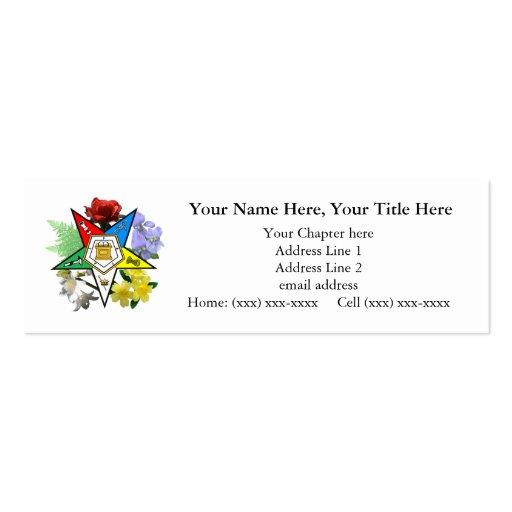 Eastern Star Floral Skinny Business Card