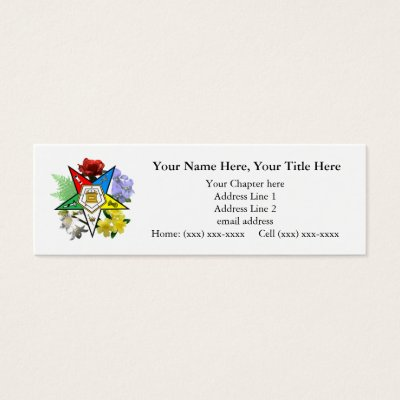 Order of the eastern star profilebusiness card zazzle reheart Image collections