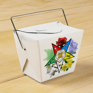Eastern Star floral take out gift box