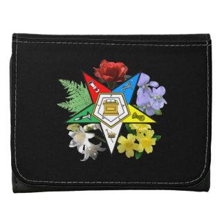 Eastern Star Floral Wallet