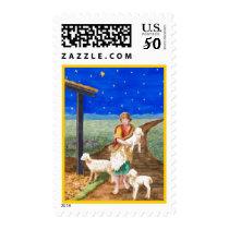Eastern Star Gold Border Postage Stamp