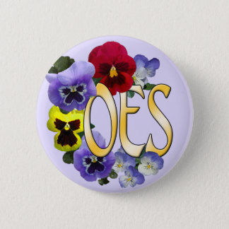 Eastern Star Pansy Pinback Button