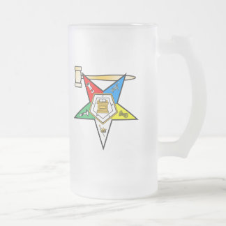 Eastern Star Past Matron items Frosted Glass Beer Mug
