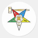 Eastern Star Past Matron items Classic Round Sticker