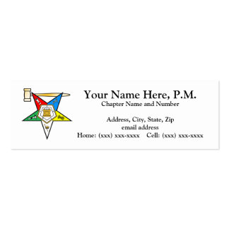 Eastern Star Past Matron Skinny Business Card