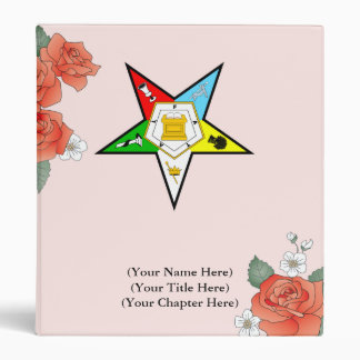 Eastern Star Rose Binder - Photo Album