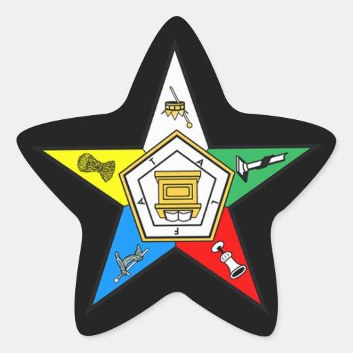 Eastern Star Star Shaped Sticker
