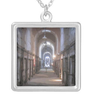 Eastern State Penitentiary CB Square Pendant Necklace