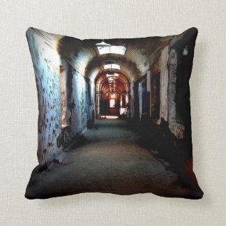 Eastern State Penitentiary Halloween Decor Throw Pillow