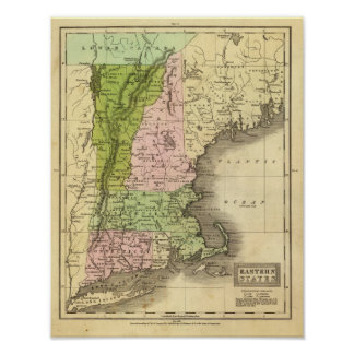 Eastern States Olney Map Poster