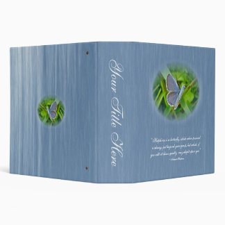 Eastern Tailed Blue Butterfly Hawthorne Quotation 3 Ring Binder