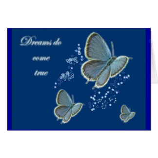 Eastern Tailed Blue Dreams Inspirational Card