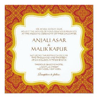 Eastern Tapestry   Wedding Invitation