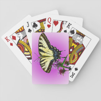 Eastern Tiger Butterfly on Pink Background Playing Cards