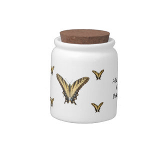 Eastern Tiger Swallowtail Butterflies Candy Jar
