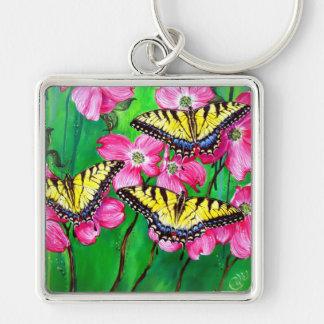 Eastern Tiger Swallowtail Butterflies Keychain