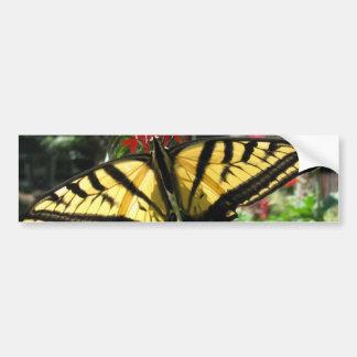 Eastern Tiger Swallowtail Butterfly Bumper Sticker Car Bumper Sticker