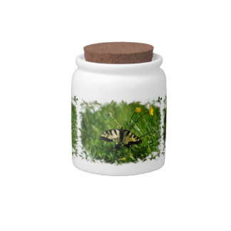 Eastern Tiger Swallowtail Butterfly candy jar