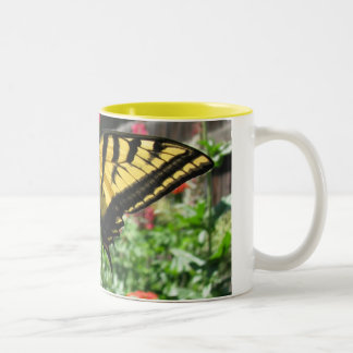 Eastern Tiger Swallowtail Butterfly Coffee Cup Two-Tone Coffee Mug