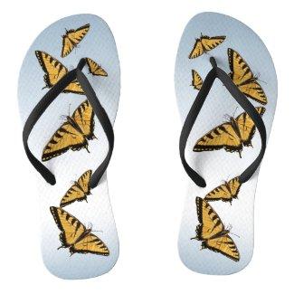 Eastern Tiger Swallowtail Butterfly Flip Flops