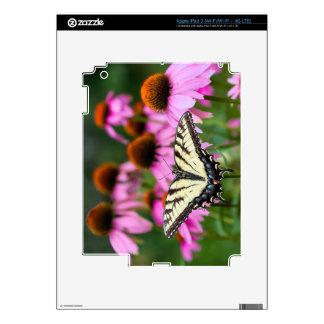 Eastern Tiger Swallowtail Butterfly On Coneflowers Decals For iPad 3