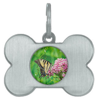 Eastern Tiger Swallowtail Butterfly Pet ID Tag