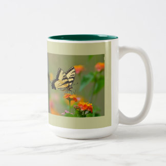 Eastern Tiger Swallowtail Butterfly Two-Tone Coffee Mug