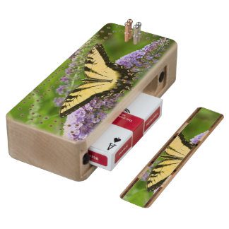 Eastern Tiger Swallowtail butterfly Wood Cribbage Board