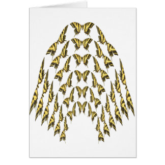 Eastern Tiger Swallowtail Flock Flying Upward Card
