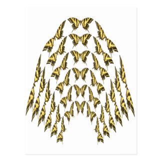 Eastern Tiger Swallowtail Flock Flying Upward Postcard