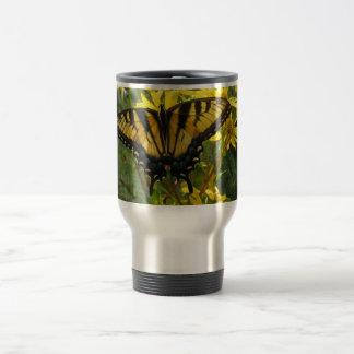 Eastern Tiger Swallowtail on Yellow Daisies Coffee Mugs