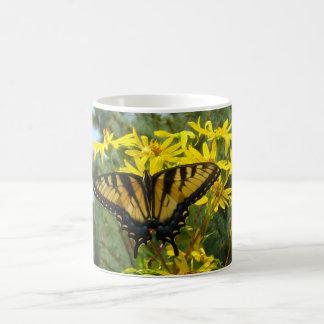 Eastern Tiger Swallowtail on Yellow Daisies Mug