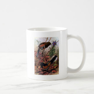 Eastern Towhees and Purple Aster Coffee Mug
