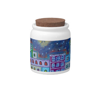 Eastern Town Candy Jar