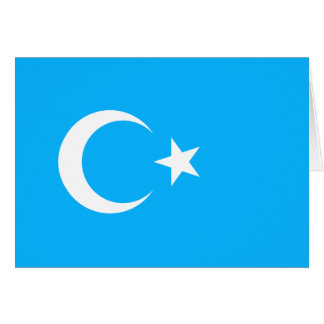 Eastern Turkistan, Democratic Republic of the Cong Greeting Card