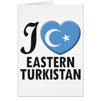 Eastern Turkistan Love Greeting Card