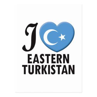 Eastern Turkistan Love Postcard