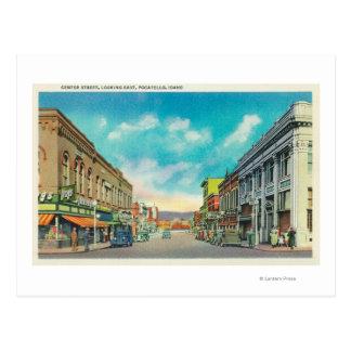 Eastern View from Center StreetPocatello, ID Postcard
