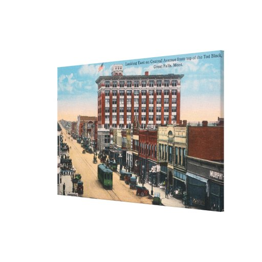 Eastern View of Central AvenueGreat Falls, MT Canvas Print