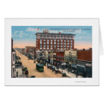 Eastern View of Central AvenueGreat Falls, MT Greeting Card